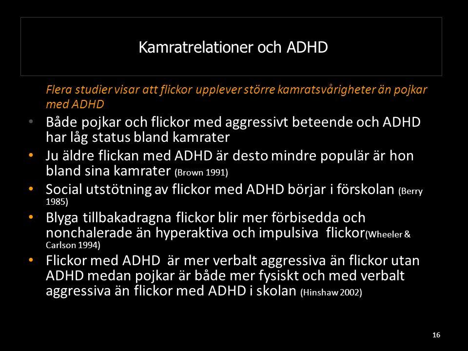 Kamratrelationer och ADHD