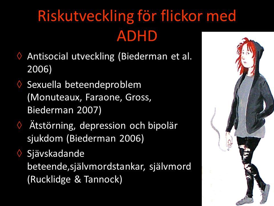 Riskutveckling för flickor med ADHD