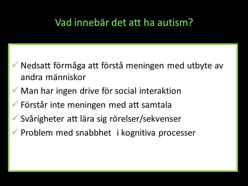 Vad innebär det att ha autism
