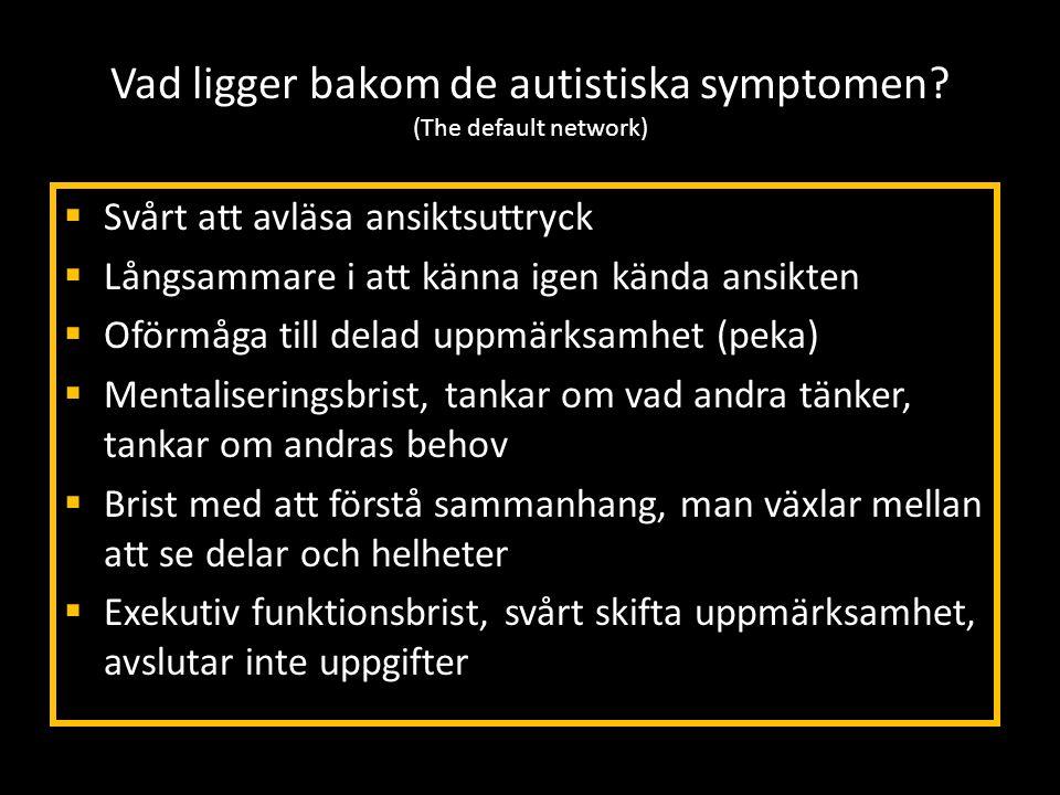 Vad ligger bakom de autistiska symptomen (The default network)