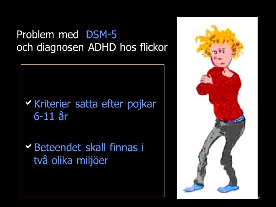Problem med DSM-5 och diagnosen ADHD hos flickor