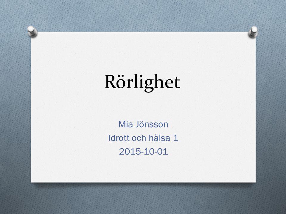 Mia Jönsson Idrott och hälsa 1 2015-10-01