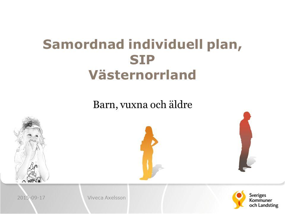 Samordnad individuell plan, SIP Västernorrland