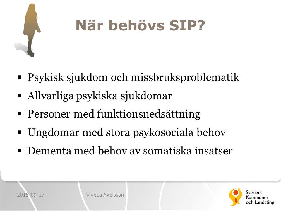 När behövs SIP Psykisk sjukdom och missbruksproblematik