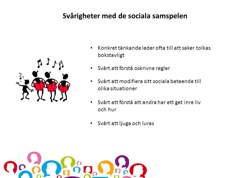 Svårigheter med de sociala samspelen