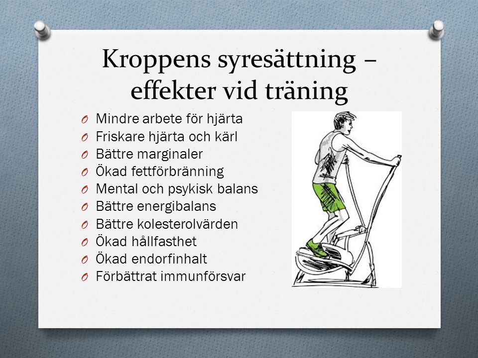 Kroppens syresättning – effekter vid träning