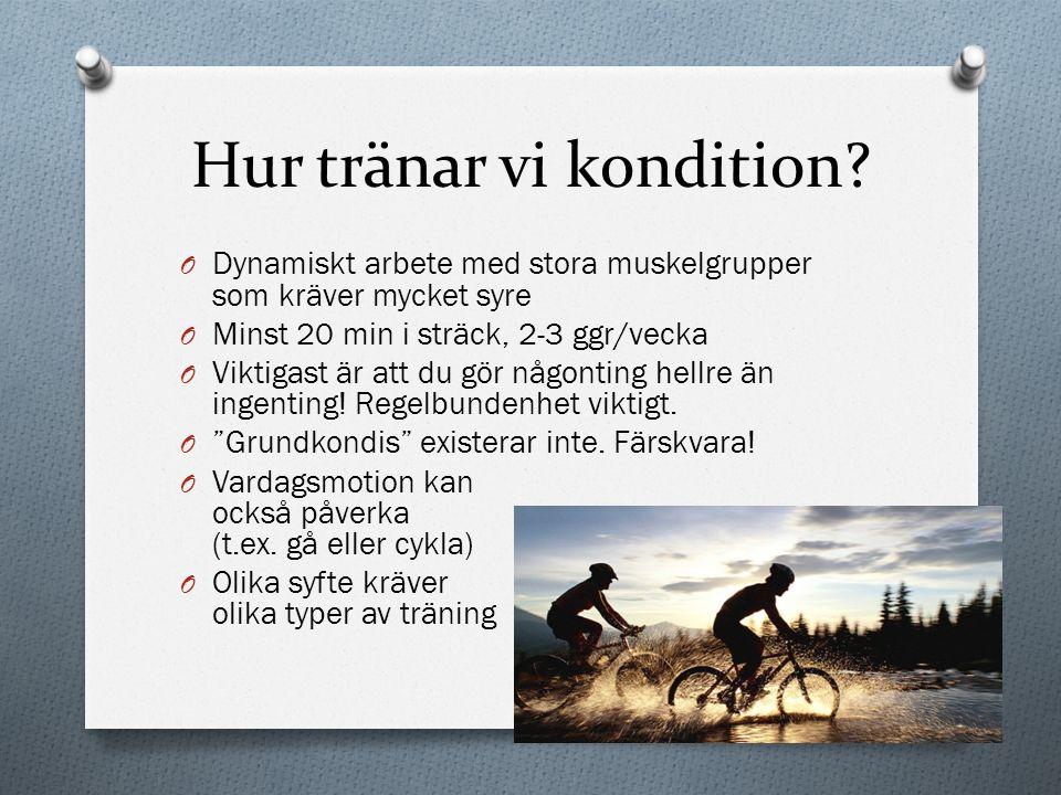 Hur tränar vi kondition