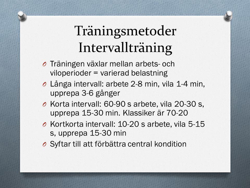 Träningsmetoder Intervallträning
