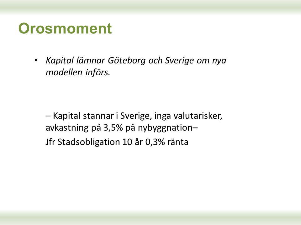 Orosmoment Kapital lämnar Göteborg och Sverige om nya modellen införs.
