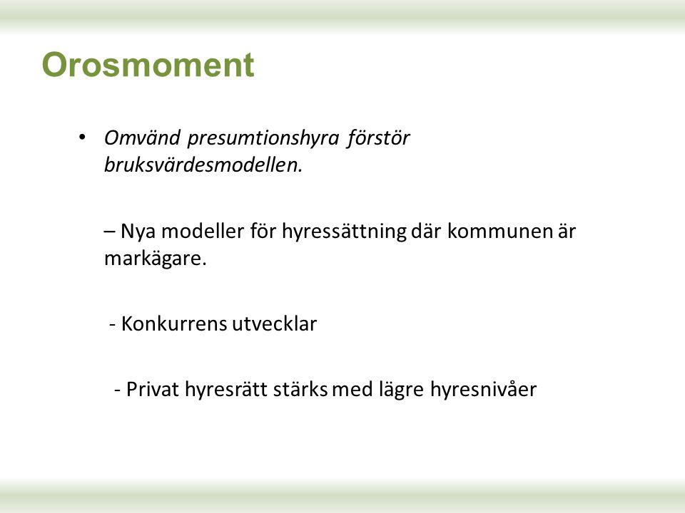 Orosmoment Omvänd presumtionshyra förstör bruksvärdesmodellen.
