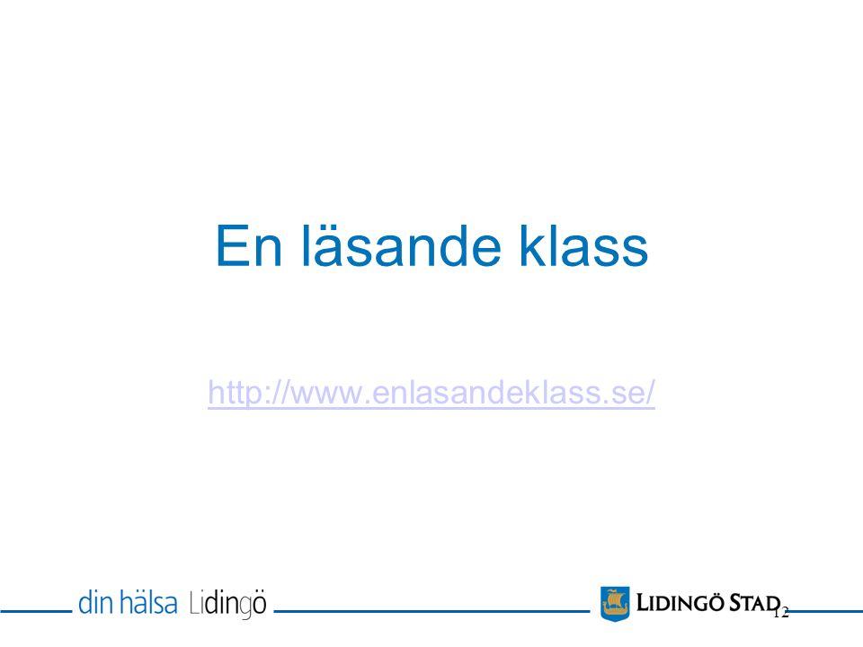 En läsande klass http://www.enlasandeklass.se/