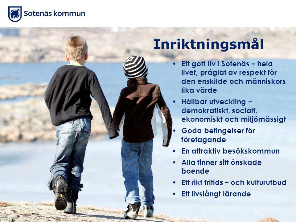 Inriktningsmål Ett gott liv i Sotenäs – hela livet, präglat av respekt för den enskilde och människors lika värde.