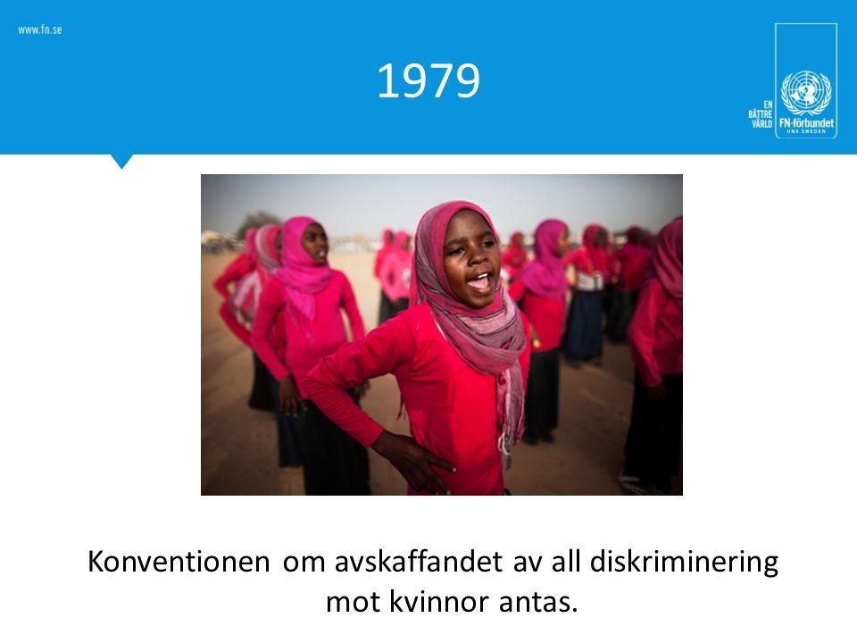 Konventionen om avskaffandet av all diskriminering mot kvinnor antas.