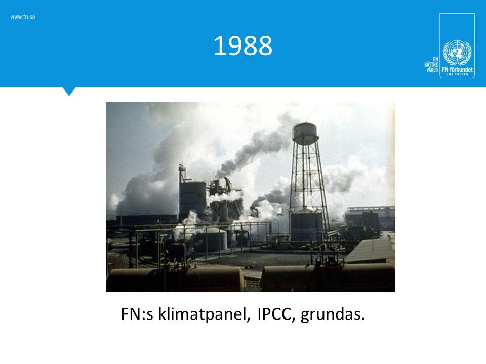 FN:s klimatpanel, IPCC, grundas.