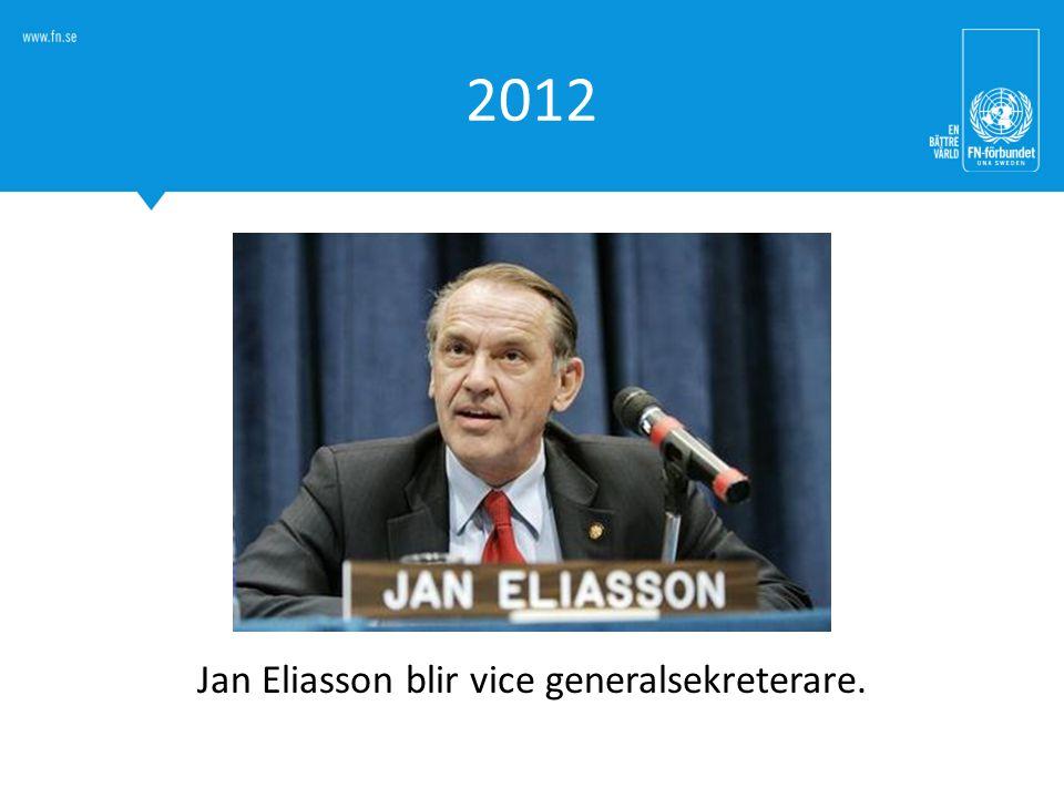 Jan Eliasson blir vice generalsekreterare.