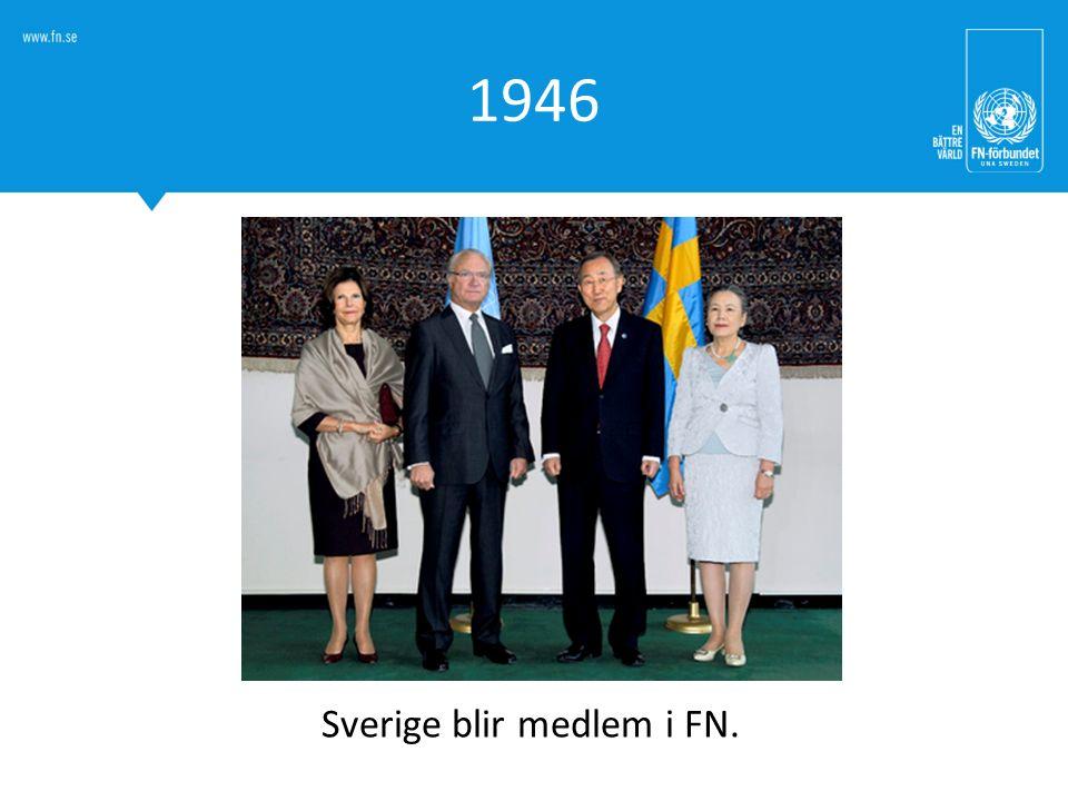 Sverige blir medlem i FN.