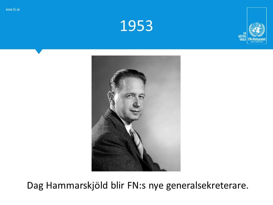 Dag Hammarskjöld blir FN:s nye generalsekreterare.