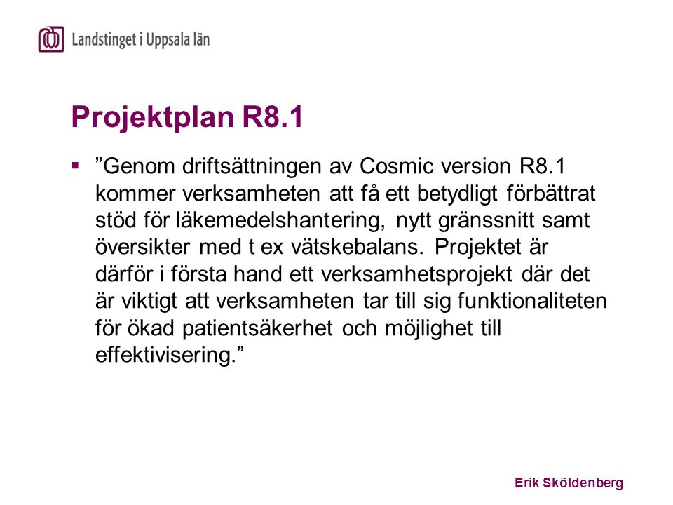 Projektplan R8.1
