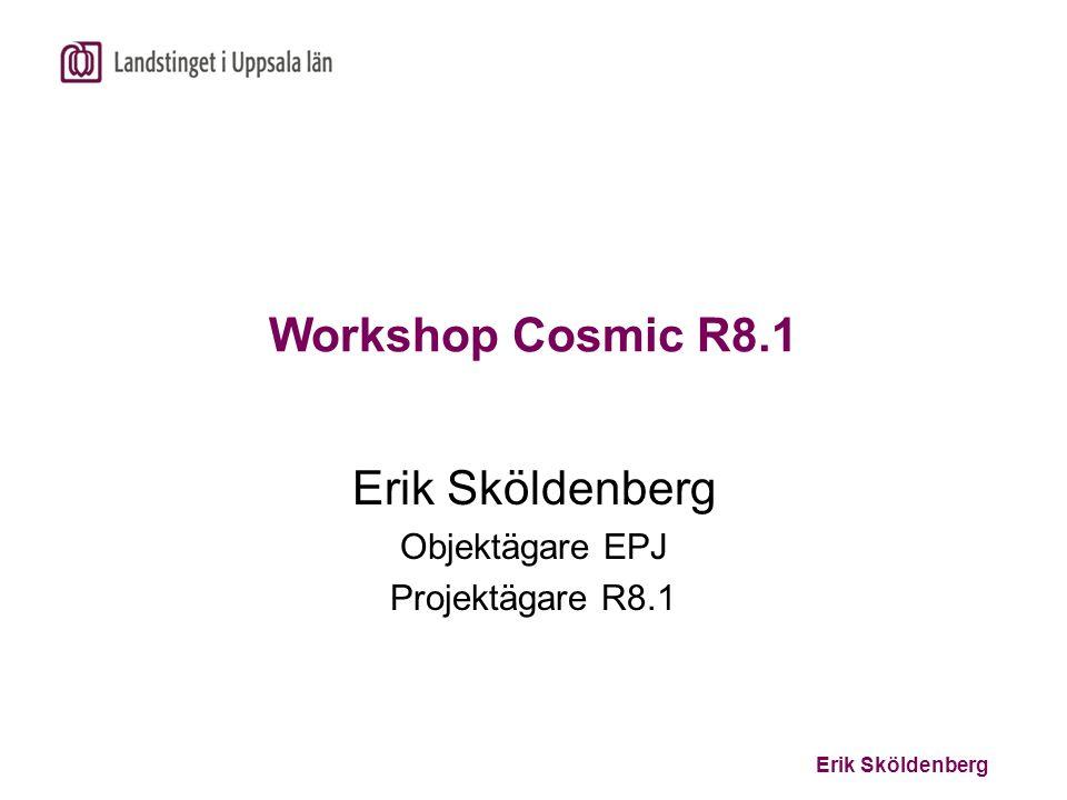 Erik Sköldenberg Objektägare EPJ Projektägare R8.1