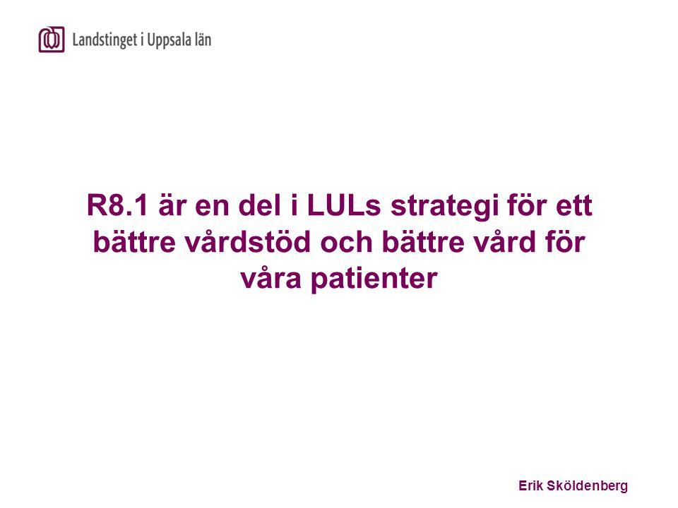 R8.1 är en del i LULs strategi för ett bättre vårdstöd och bättre vård för våra patienter