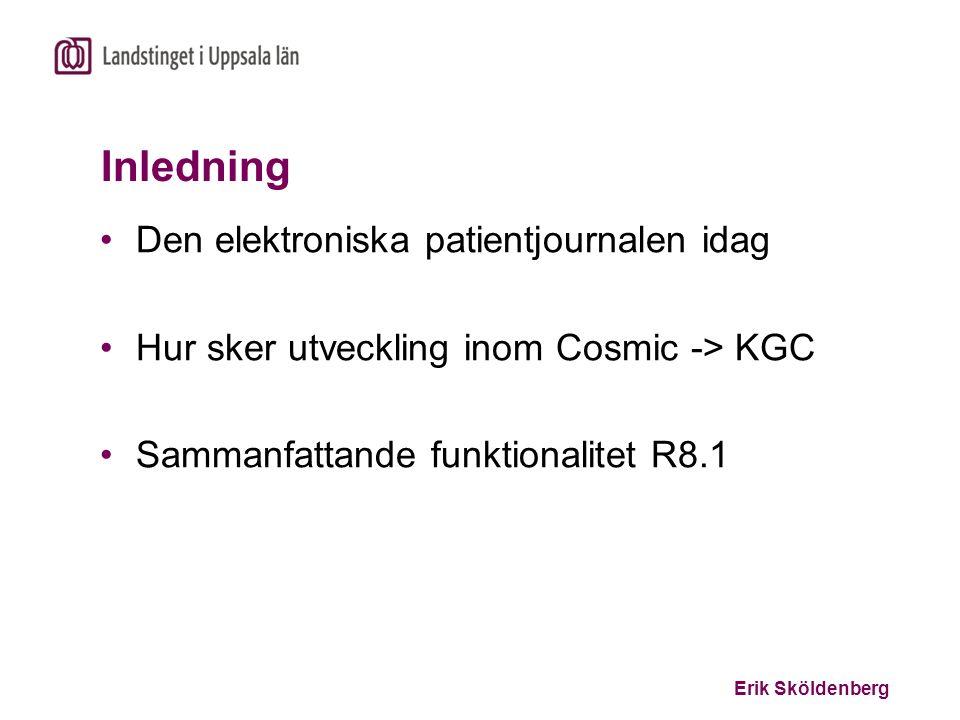 Inledning Den elektroniska patientjournalen idag