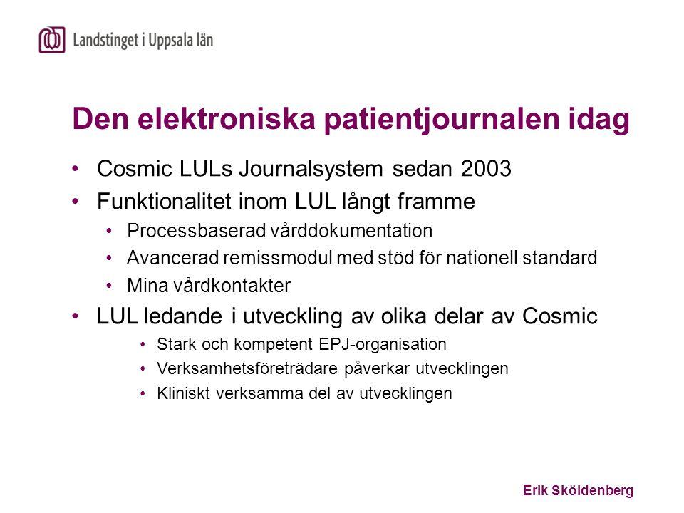 Den elektroniska patientjournalen idag
