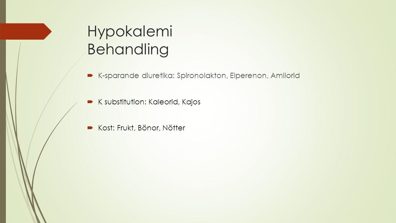 Hypokalemi Behandling