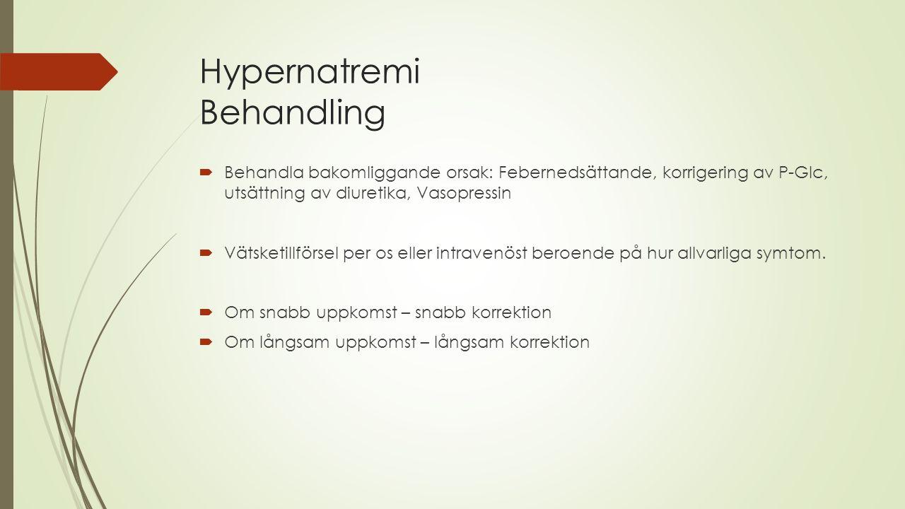 Hypernatremi Behandling