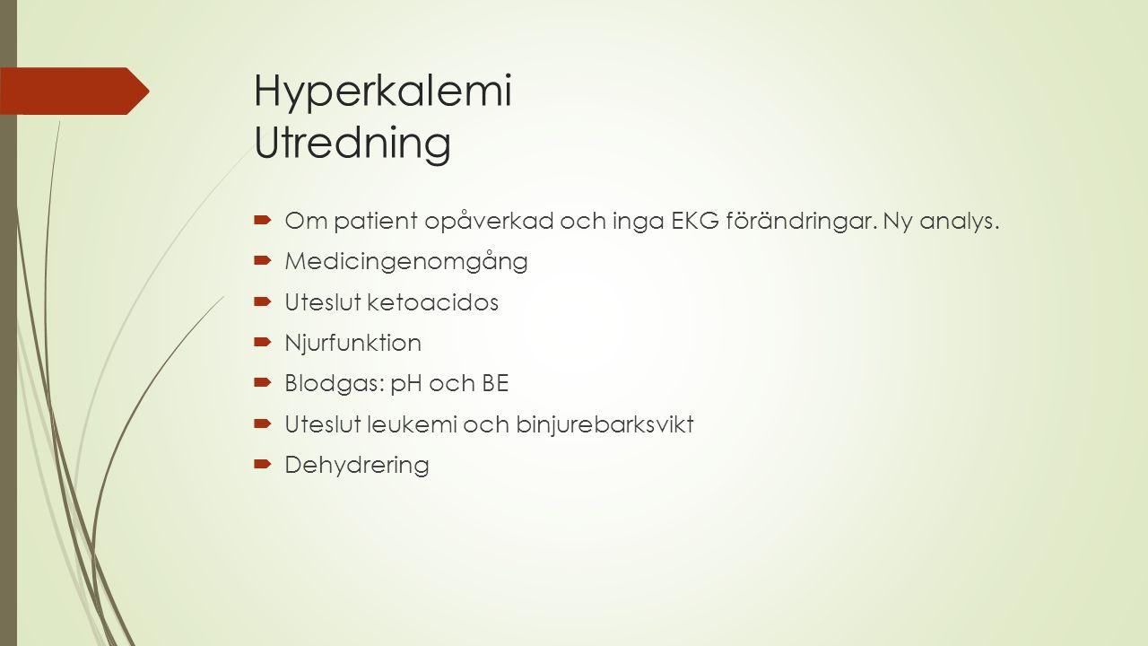 Hyperkalemi Utredning