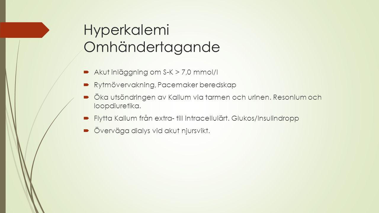 Hyperkalemi Omhändertagande