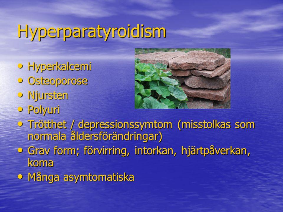 Hyperparatyroidism Hyperkalcemi Osteoporose Njursten Polyuri