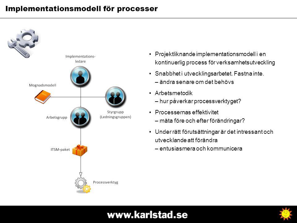 Implementationsmodell för processer
