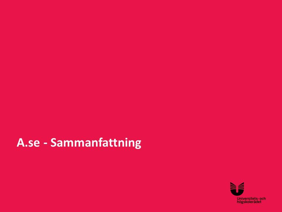 A.se - Sammanfattning