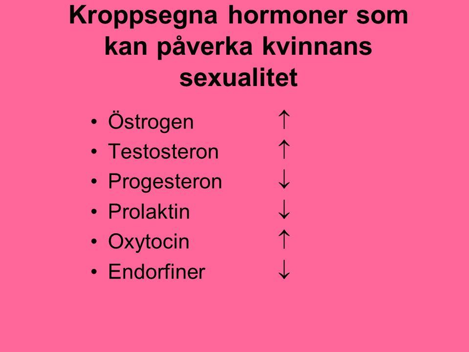 Kroppsegna hormoner som kan påverka kvinnans sexualitet