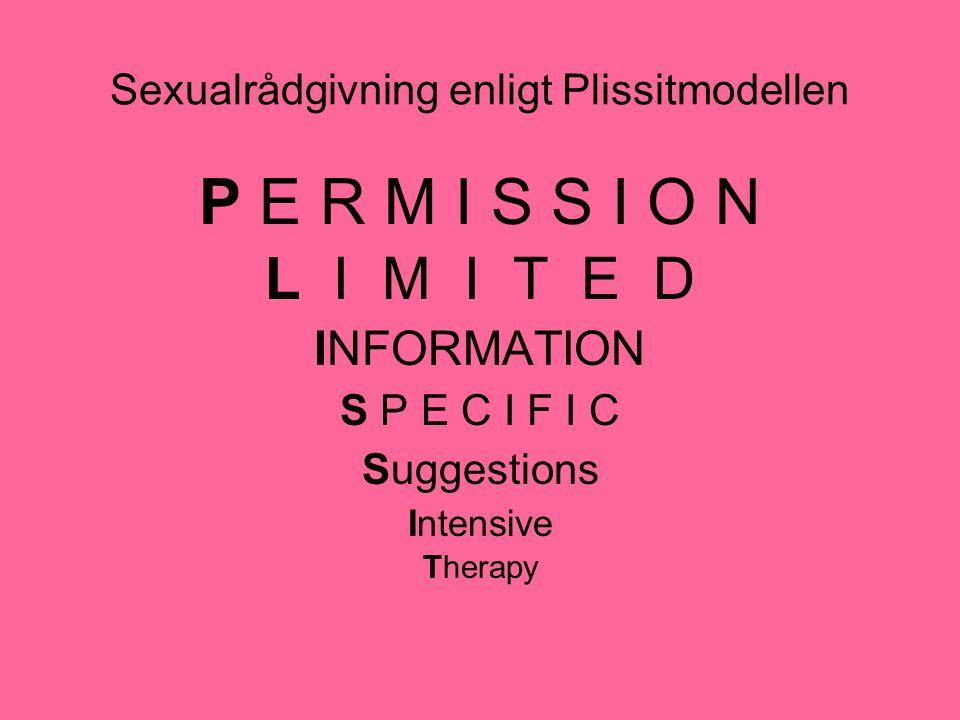 Sexualrådgivning enligt Plissitmodellen