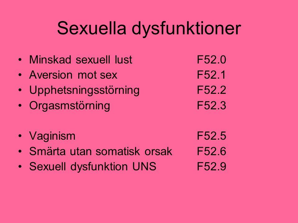 Sexuella dysfunktioner