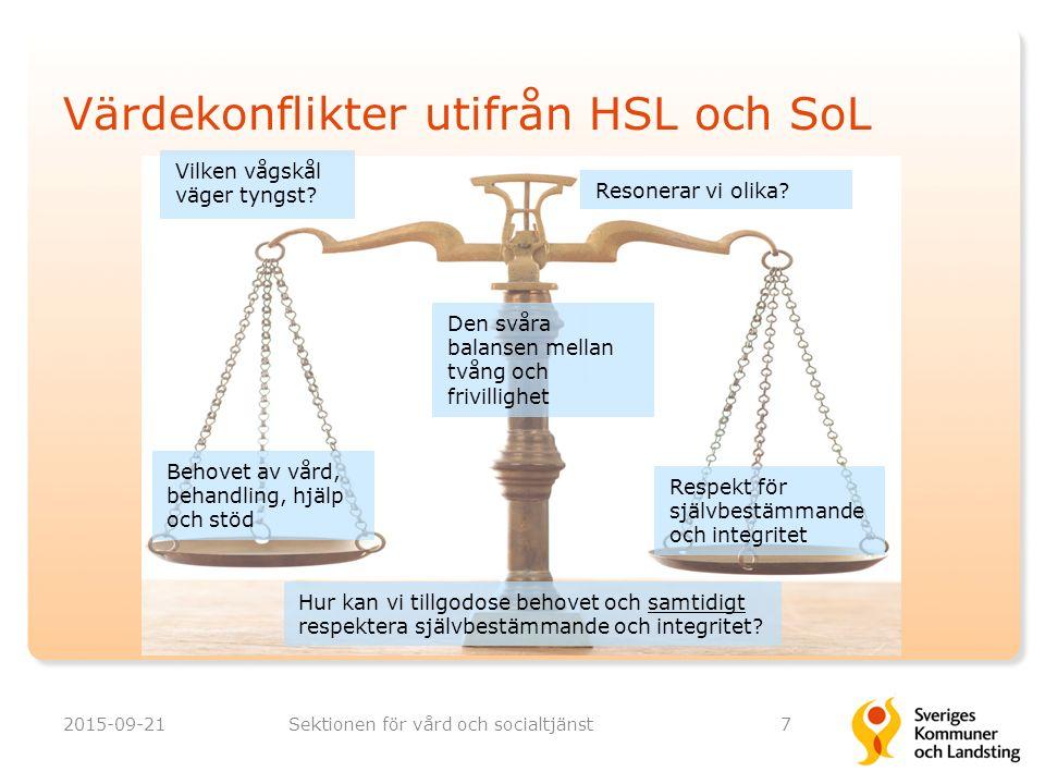 Värdekonflikter utifrån HSL och SoL