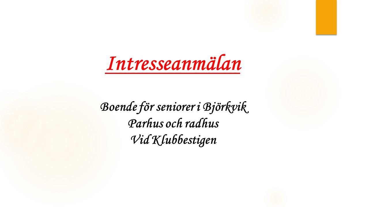 Boende för seniorer i Björkvik