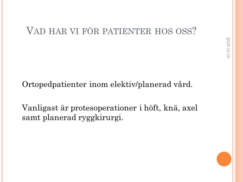 Vad har vi för patienter hos oss