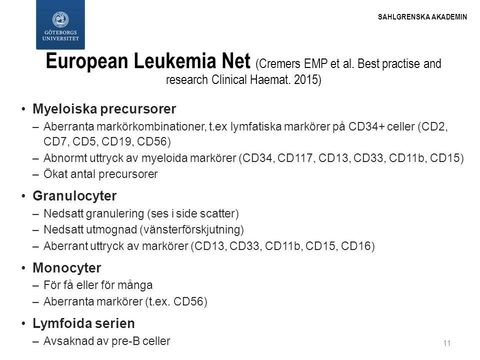 European Leukemia Net (Cremers EMP et al