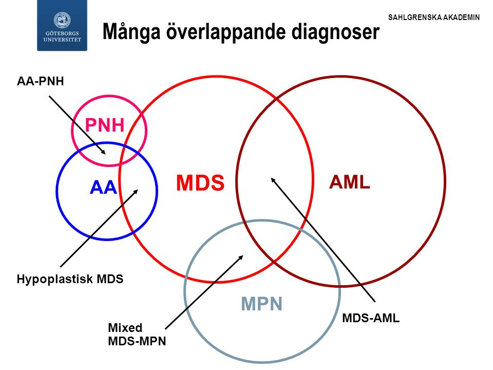 Många överlappande diagnoser