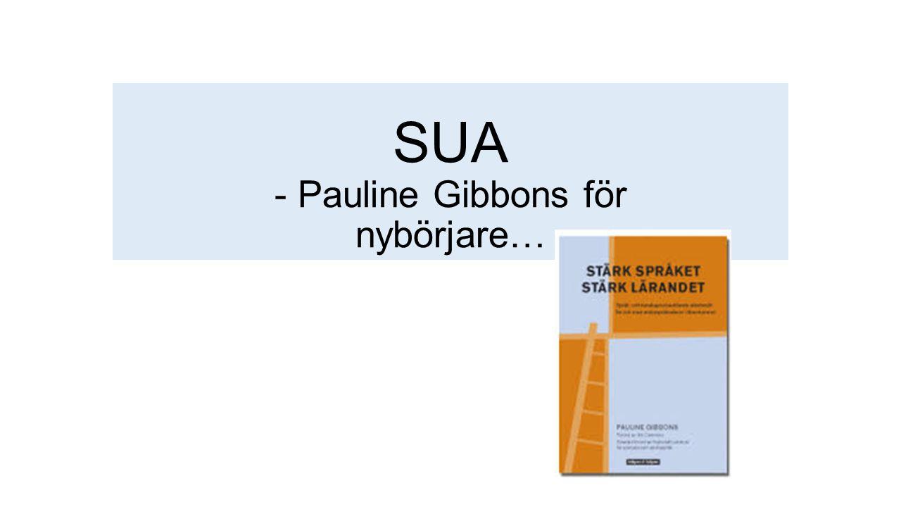SUA - Pauline Gibbons för nybörjare…