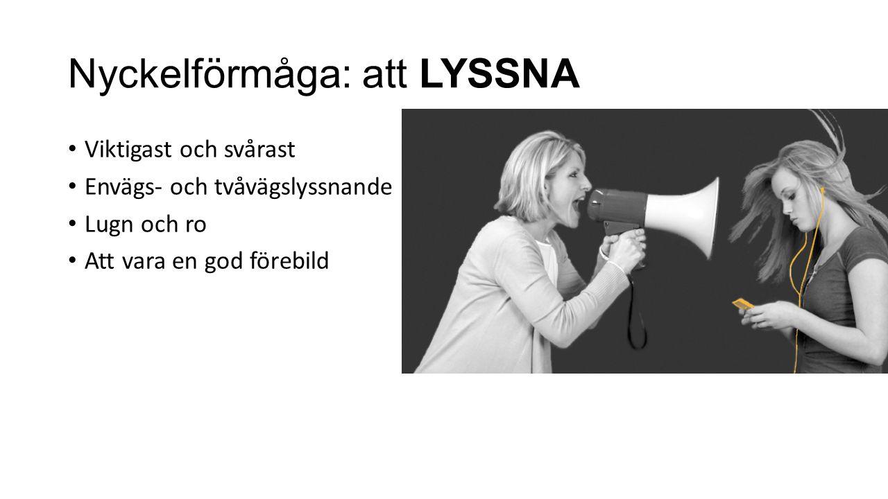 Nyckelförmåga: att LYSSNA