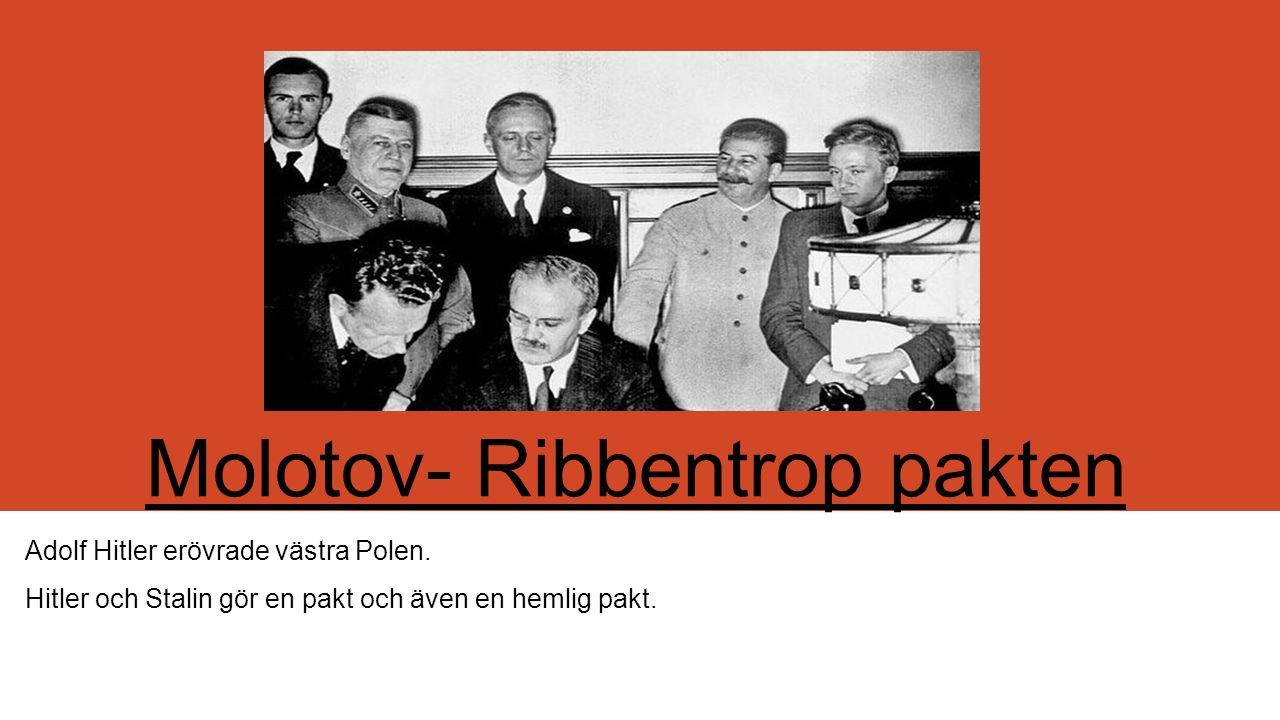 Molotov- Ribbentrop pakten