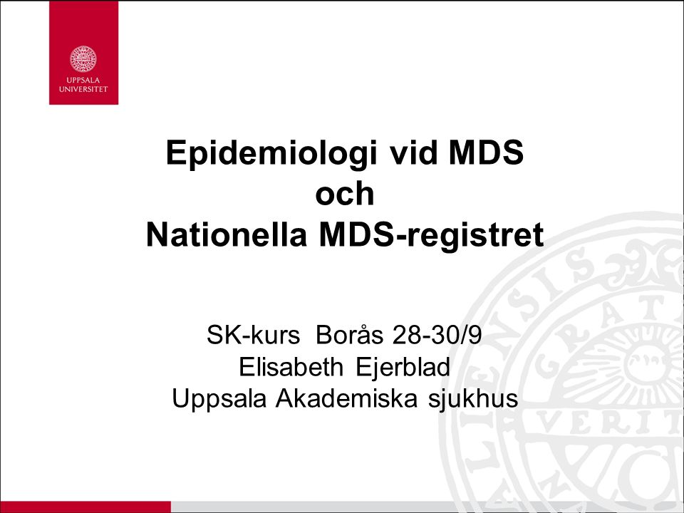 Nationella MDS-registret