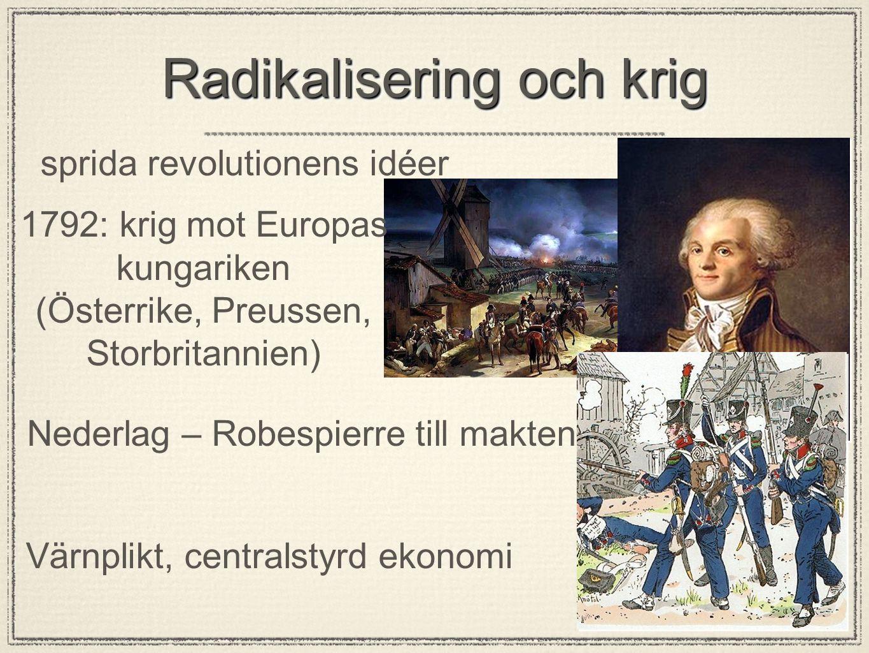 Radikalisering och krig