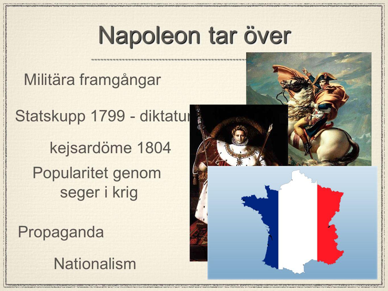 Napoleon tar över Militära framgångar Statskupp 1799 - diktatur