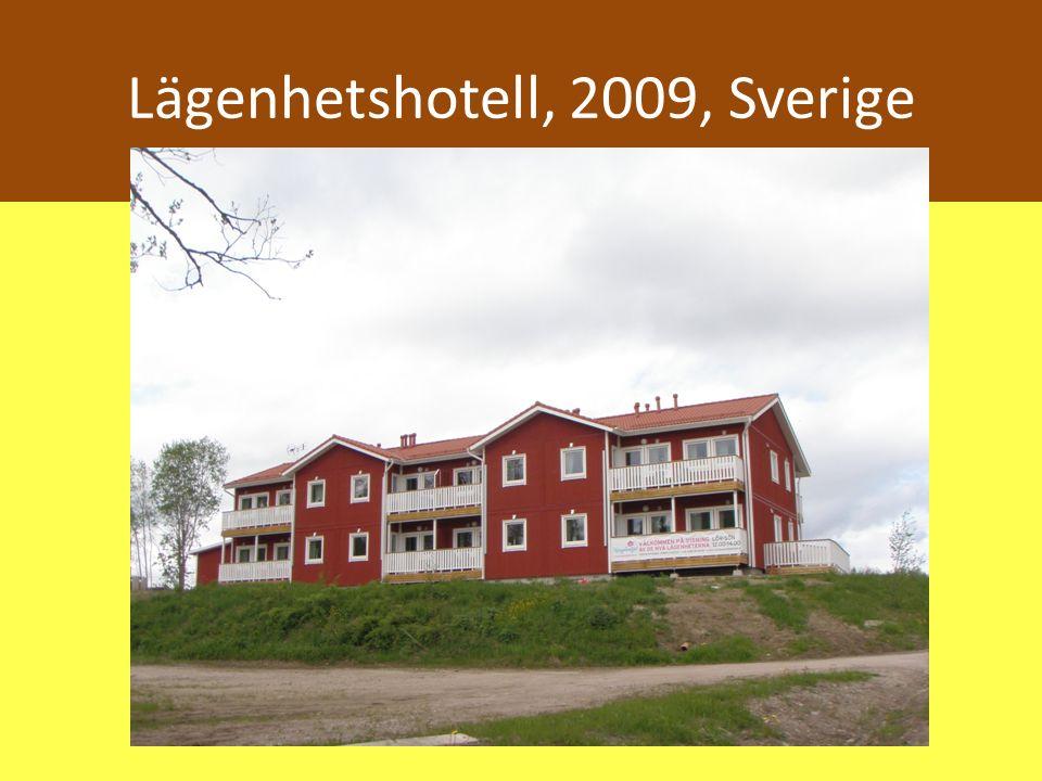 Lägenhetshotell, 2009, Sverige