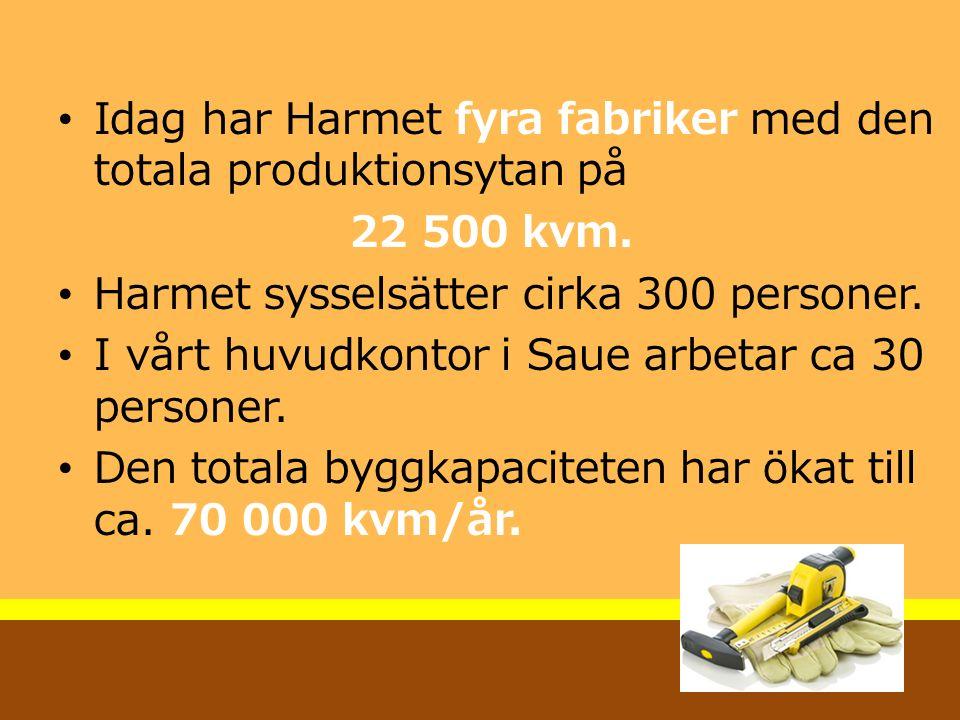 Idag har Harmet fyra fabriker med den totala produktionsytan på