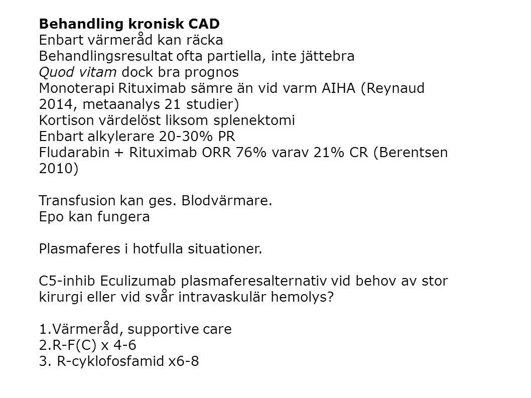 Behandling kronisk CAD Enbart värmeråd kan räcka